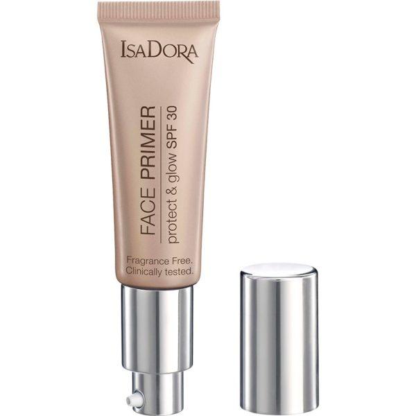 Kjøp Face Primer Protect & Glow SPF30, Sun Glow 30 ml IsaDora Primer Fri frakt