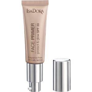 Kjøp Face Primer Protect & Glow SPF30, Transparent Glow 30 ml IsaDora Primer Fri frakt